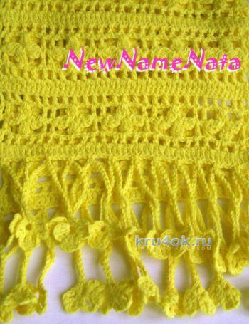 Ажурный шарф. Работа NewNameNata. Вязание крючком.