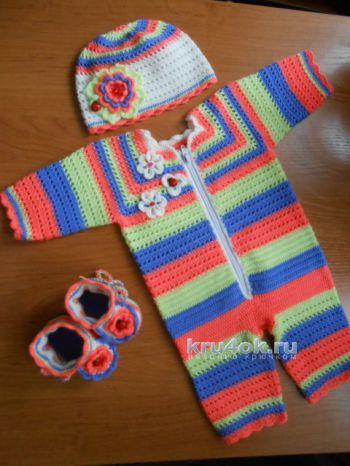 Комплект для девочки. Работа Галины Лукериной. Вязание крючком.