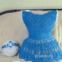 Платье и повязка для девочки. Работы Эльвиры Вязаловой