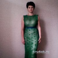 Вязаное крючком платье. Работа Галины