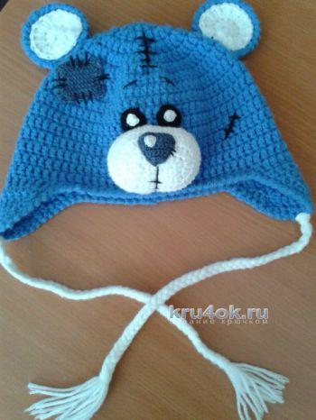 Вязаная крючком шапочка Тедди для девочки
