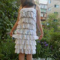 Вязаное платье. Работа Татьяны
