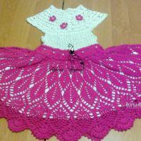 Ажурное платье для девочки. Работа Марины