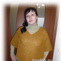 Пончо Золотая листва. Работа Галины Леоновой