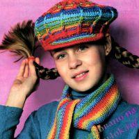 Кепка и шарф для девочки