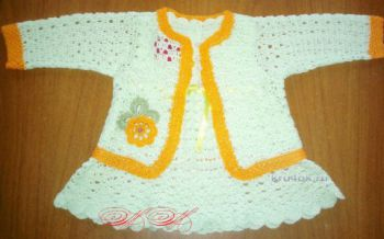 Платье и болеро для девочки. Работа Марины Михайловны. Вязание крючком.