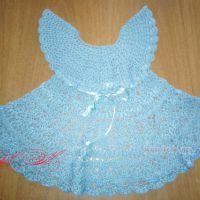 Бирюзовое платье для девочки. Работа Марины Михайловны