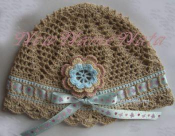 Летняя шапочка для девочки. Работа NewNameNata. Вязание крючком.