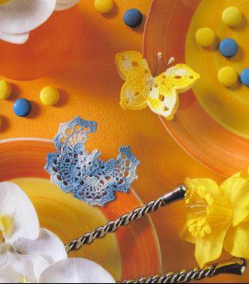Вязаные крючком простые бабочки, подборка схем