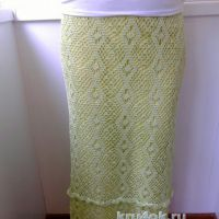 Длинная юбка крючком. Работа Евгении Руденко