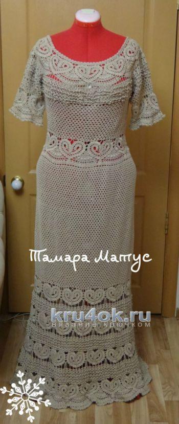 Платье Песочное сердце. Работа Тамары Матус