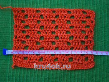 Как определить плотность вязания. Вязание крючком.