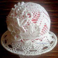 Шляпка для девочки. Работа Нины Колотило