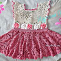 Детское платье крючком. Работа Ольги Изуткиной