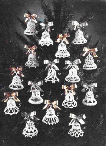 Вязаные игрушки - колокольчики на ёлку