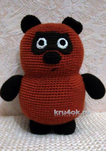 Медвежонок Винни Пух крючком схемы и описание игрушки