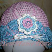 Розовая шляпка для девочки. Работа NewNameNata