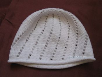 Детская шапочка крючком. Работа Ирины. Вязание крючком.
