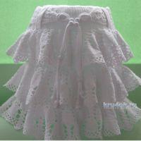 Детская юбка Ажурный колокольчик. Работа Ирины