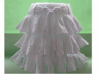 Детская юбка Ажурный колокольчик. Работа Ирины. Вязание крючком.