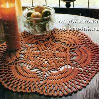Схемы вязания круглых салфеток