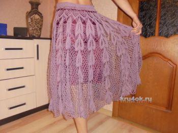 Вязаная юбка. Работа Татьяны Ивановны