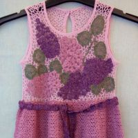 Нарядное платье Махровая сирень. Работа Ирины