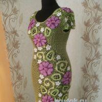 Женское платье крючком. Работа Шаповал Надежды
