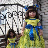 Платье для девочки крючком. Работа Виктории