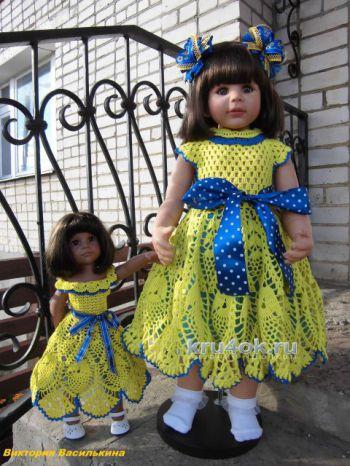 Платье для куклы крючком от Виктории