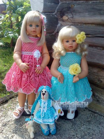 Детские платья крючком. Работы Виктории. Вязание крючком.