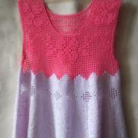 Платье для девочки крючком. Филейное вязание