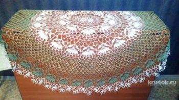Потрясающе красивая скатерть, описание и схема вязания