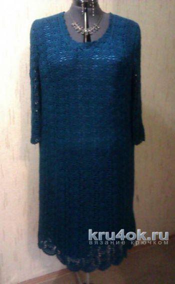 Платье Морская волна. Работа TatVen. Вязание крючком.
