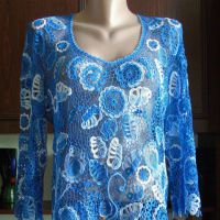 Блуза Роспись небом. Работа Елены Павленко