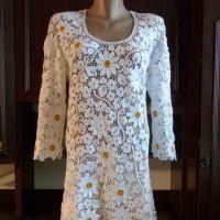 Платье Жемчужина букета крючком. Работа Елены Павленко