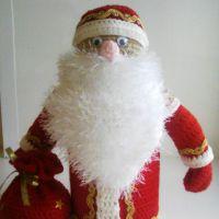 Кукла Дед Мороз крючком. Мастер — класс от Арины!