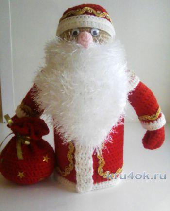 Кукла Дед Мороз крючком. Мастер – класс от Арины!. Вязание крючком.