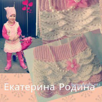 Юбка для девочки. Работа Екатерины Родиной. Вязание крючком.