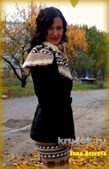 Юбка и шарф крючком. Работы Inna Aliyeva. Вязание крючком.