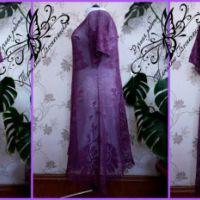 Женское платье крючком. Филейное вязание