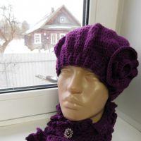 Берет и ажурный шарф. Работы кaRomЭлькa