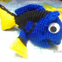Рыбка Дори крючком. Работа Снежаны