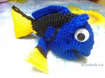 Рыбка Дори крючком. Работа Снежаны. Вязание крючком.