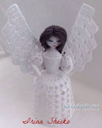 Ангел крючком. Мастер-класс от Ирины Шейко. Вязание крючком.
