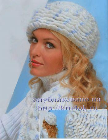 Вязание крючком шапки и шарфа.