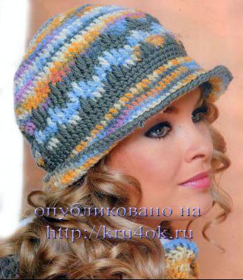Вязание крючком теплой шляпы
