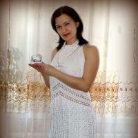 Платье — сарафан крючком. Работа Inna Aliyeva.