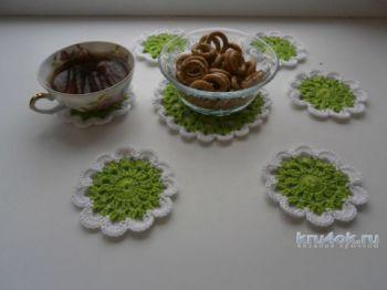 Салфетки для чаепития. Работы Натальи Аброськиной. Вязание крючком.