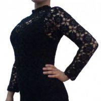 Вязаное крючком платье. Работа Елены